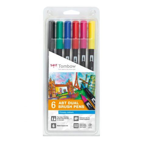 Tombow Dual Brush Pen Sets – Primärfarben