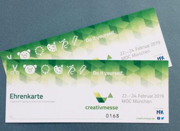 Gewinne 2 Freikarten für die Creativmesse in München