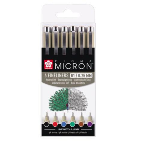 Set aus farbigen Micron 01