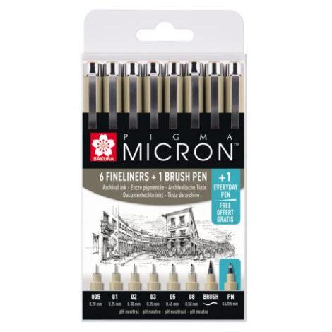 Großes Micron Set + Brush + PN