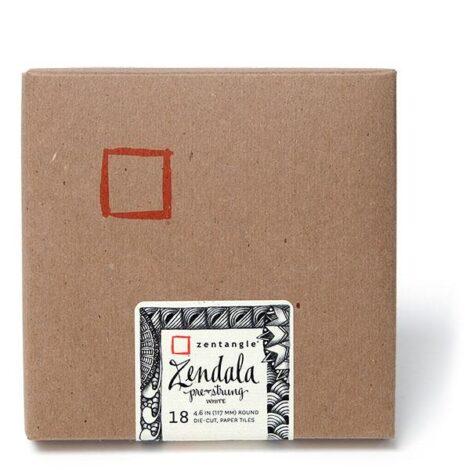 Zendala vorgezeichnet Weiß – 18