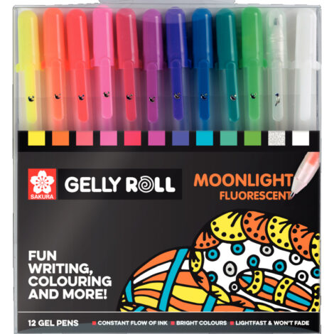 Gelly Moonlight Set 12 – Fluoreszierend